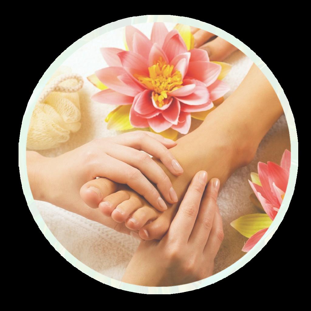 Massage des pieds au Salon Chanida à Vevey